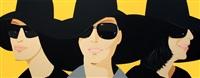 lot 32: black hats iv, signed by alex katz
