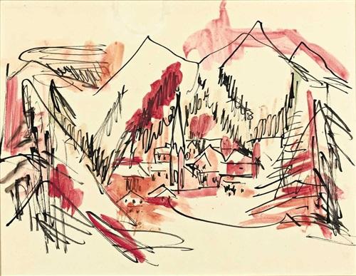 landschaft davos by ernst ludwig kirchner
