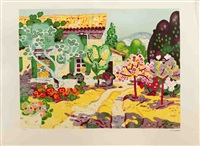 lot 180: paysage de campagne, signed by guy charon