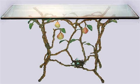 rocky mountain pear sofa table by victor cicansky