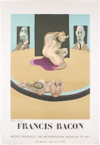 lot: 162 metropolitan museum of art mourlot, signed by francis bacon