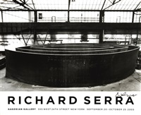 lot: 44 blindspot, signed by richard serra