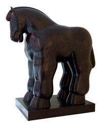 horse with reins by fernando botero