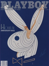 lot: 203 playboy cover by erté