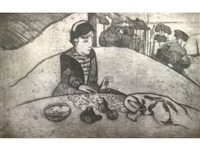 la femme aux figues (kornfeld 25) by paul gauguin