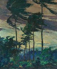palms in wind by jonas lie
