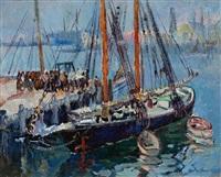 dock scene by hayley lever