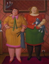 two women by fernando botero