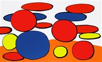 bulles rouge et blue (red and blue bubbles) by alexander calder