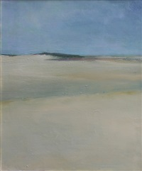 dunes with gray sky by anne packard