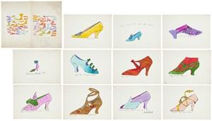a la recherche du shoe perdu series by andy warhol