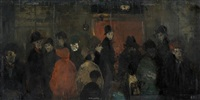 the crowd by laurence stephen lowry