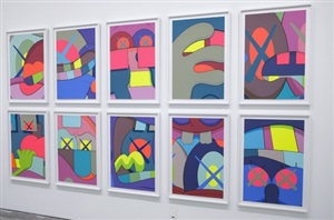 ups and downs series by kaws