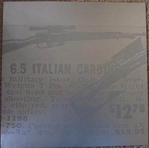 flash carbine gun (unique trial proof) by andy warhol