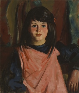 mary patton in rose smock by robert henri