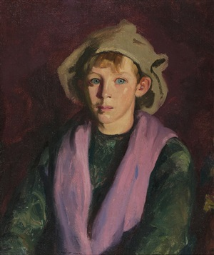 portrait of a boy by robert henri