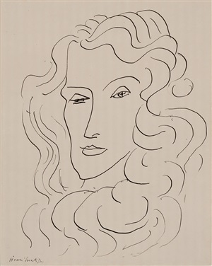 portrait de femme, nice by henri matisse