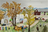 thanksgiving by grandma moses