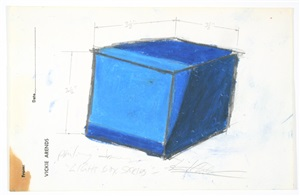 roswell preliminary drawing for light box series by stuart arends