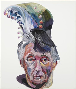 dad with peacock hair by ben quilty