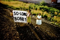 usa. 1968. robert kennedy funeral train.usa. by paul fusco