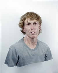 young self: portrait of the artist as he was (not), variation #2 by evan penny