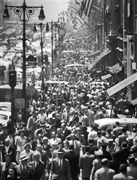 midtown fifth avenue during lunch hour, new york by andreas feininger