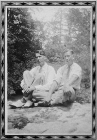untitled (two men seated) by mike disfarmer