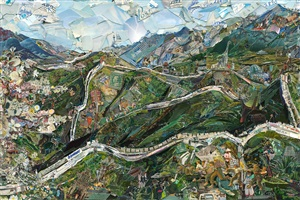 postcards from nowhere: great wall of china by vik muniz