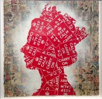 elizabeth (keep calm comic strip) by mr. brainwash