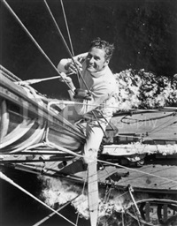 errol flynn on his yacht by peter stackpole