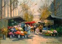 flower market by edouard léon cortès