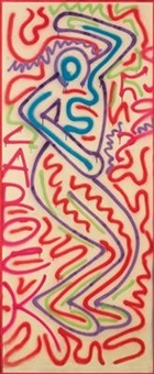 untitled (dancing man) by keith haring
