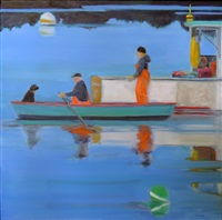early morning view from the porch, corea harbor - limited edition print by phoebe porteous