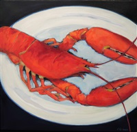 marthas lobster - limited edition print by phoebe porteous