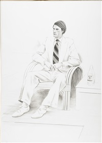 joe mcdonald by david hockney