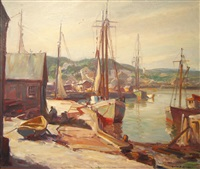 gloucester harbor by emile albert gruppe