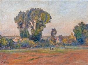 landscape at pontoise by frédéric samuel cordey