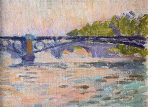 paris bridges (ponts du paris) by louis hayet