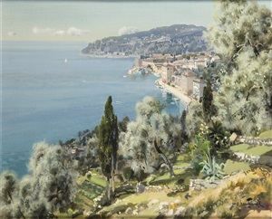 la rade de ville franche by gabriel deschamps