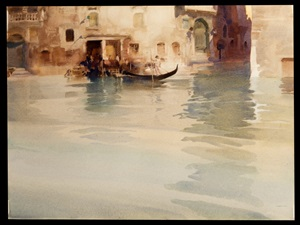 traghetto, san stae, venice by william russell flint