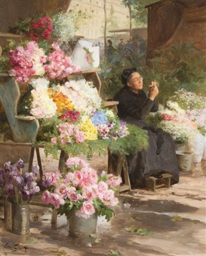 la marchande de fleurs by victor gabriel gilbert