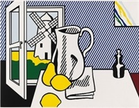 still life with windmill from six still lifes portfolio by roy lichtenstein