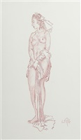 standing nude study by william russell flint