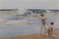 defiance & discretion, bamburgh by william russell flint