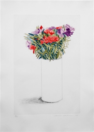 godetia by david hockney