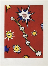 illustration for 'de denver au montana, depart 27 mai 1972' (ii) by roy lichtenstein