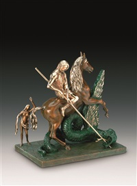 st george and the dragon by salvador dalí
