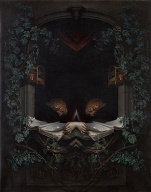 self-portrait as a caged bird (after dou) by matthew hansel