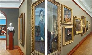 self portrait facing left & right (after dahl) by matthew hansel